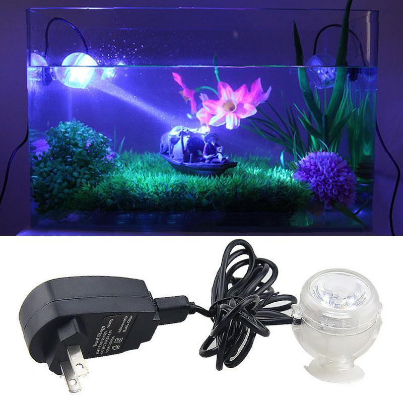 Luminaria 1W LED Night Light Aquarium Bubble Fish Tank Lamp Colors PVC Amphibious