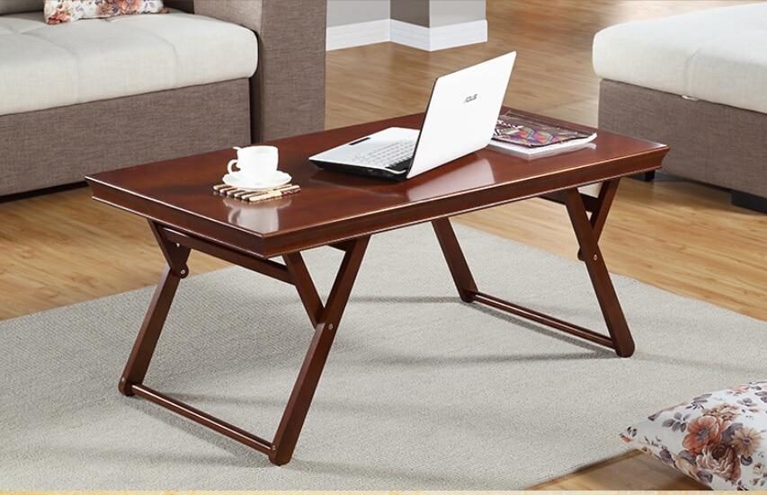 Complètement réel bois table pliante salon bureau simple et