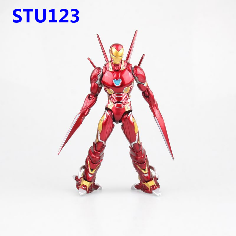 6.3''The Avengers : Infinity War SHF MK50 Iron Man/Tony Stark Weapon set version PVC Action Figure Model Toys Boxed 16cm N801