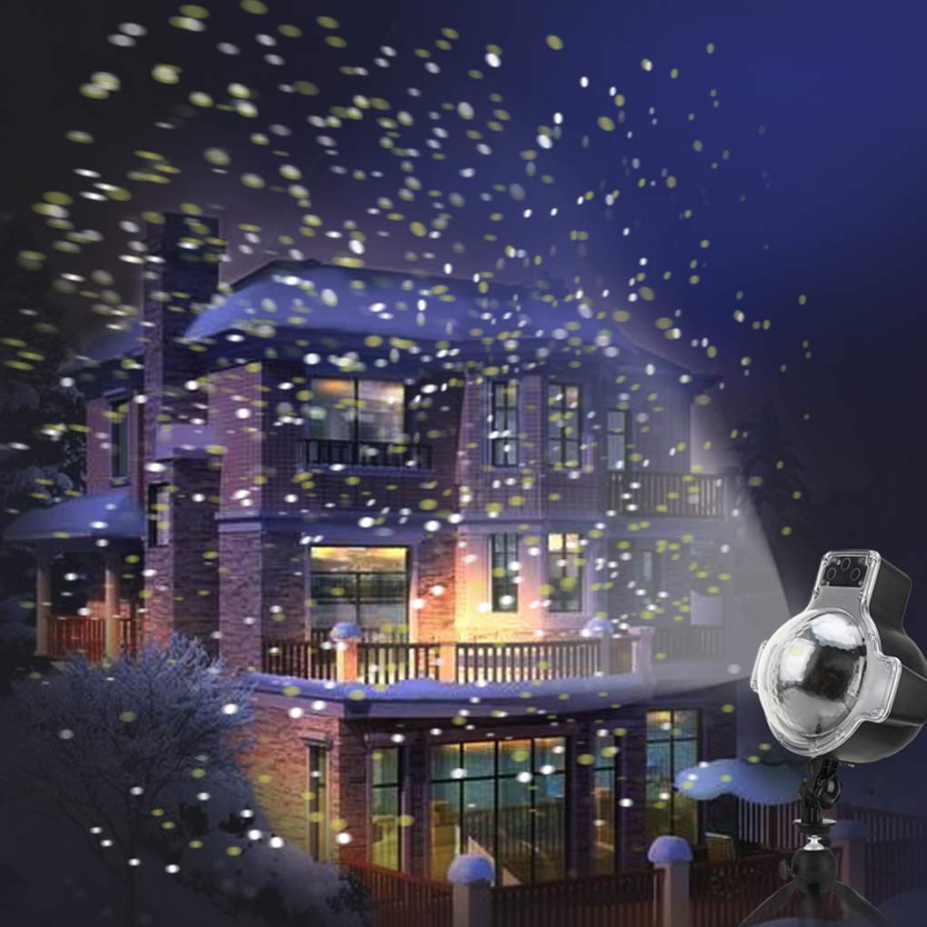 Christmas Snow Laser LED Projector Lights Landscape Spotlight For Halloween Birthday Party with Remote Control green laser gloves finger lights glowing rave gloves for halloween costume christmas dance party birthday