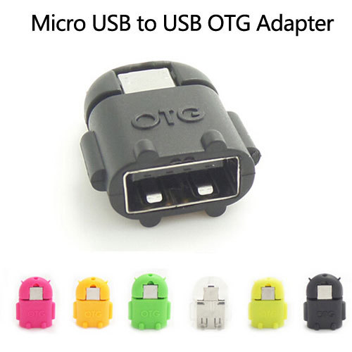 Android Robot Shaped Micro USB to USB OTG Adapter Cable for Smart Phone Galaxy S3 S4 Note2