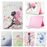 For iPad Mini 4 Case,Case for IPad Mini4 Girl Bling Rhinestone Butterfly PU Leather Book Stand Protective Tablet Cover Funda