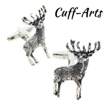 Cufflinks For Men Wedding Handsome Noble Elk Shaped Gifts Him Cool With Gift Box By Cuffarts  C10062