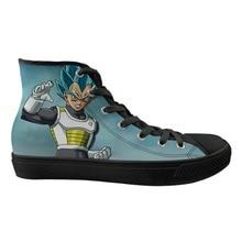 ELVISWORDS Вегета Dragon Ball Вулканизированная обувь Прохладный высокие холщовые Супер Saiyan GT Z Гоку удобные кроссовки для обувь мальчиков для мужчин