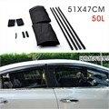 2 unids/set nuevo negro de tela de malla Auto del coche 50L cortina de ventana parasol Set protección UV Side Window Curtain 51 x 47 cm