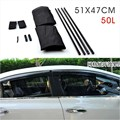 2Pcs/set New Black Mesh Fabric Car Auto 50L Window Curtain Sunshade Set UV Protection Side Window Curtain 51 x 47cm