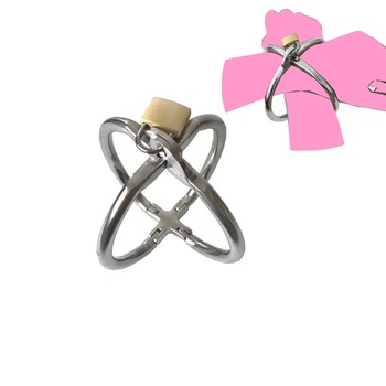 Black emperor SM fun cross handcuffs for men and women, binding wrist, sex toys, torture devices, 304 stainless steel new style