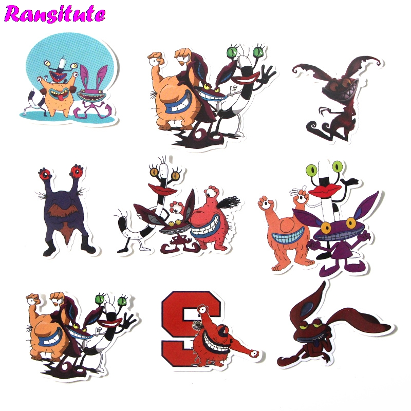 42pcs/set Aaahh Real Monsters Funny Children's Toy Stickers DIY Suitcase Computer Skateboard Waterproof Stickers
