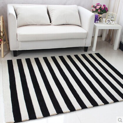 Acrylic carpet stripe alfombras tapete rug carpets for a for Alfombras de living