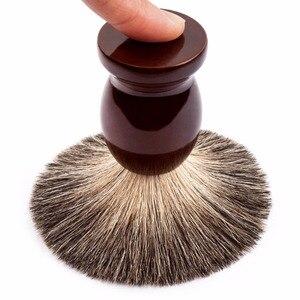 Image 2 - Qshave Man Pure Badger Hair Shaving Brush Wood 100% for Razor Double Edge Safety Straight Classic Safety Razor Brush