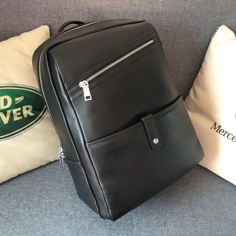 Computer Schicht Reisetasche Casual Mode Rindsleder Tasche Business Frau Männer High Rucksack Top kapazität Kaisiludi Leder Schulter q4wavv6