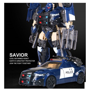 Image 2 - BMB Transformation G1 Barricade TF5 Polic Car Model voyager Oversize Action Figure Toys