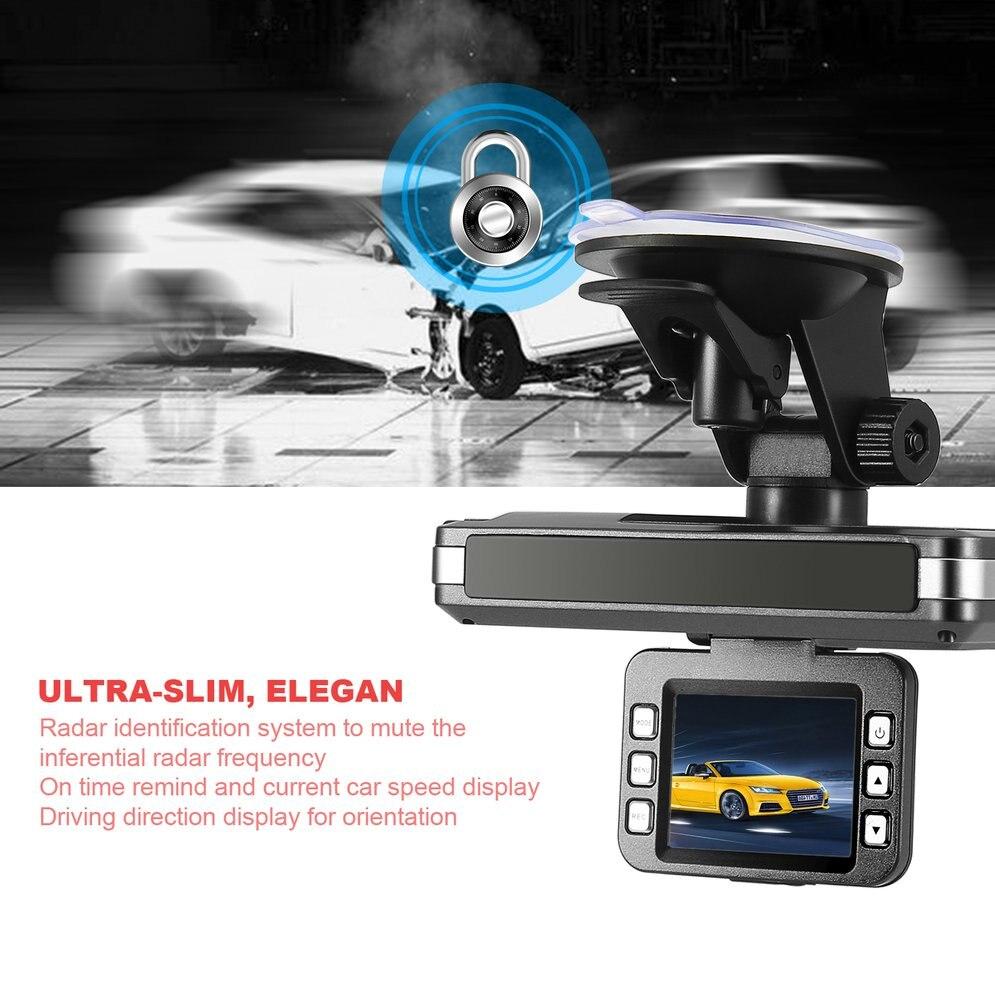 NewHD 2 IN 1 2 Inch Car Dash Dashboard Tachograph DVR Camera Laer Radar Speed Recorder DVR Rear View Cam Recording Machine