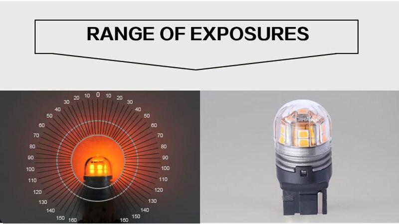 T20 7440 Avtomatik LED tərs işıqlar Əyləc işıqları LED siqnal - Avtomobil işıqları - Fotoqrafiya 3