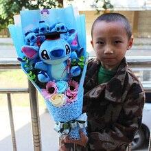 Горячая плюшевые игрушки, Стич аниме «Лило и Стич» мягкие чучело Куклы Kawaii Стич плюшевый букет подарок для детей подарок на день рождения
