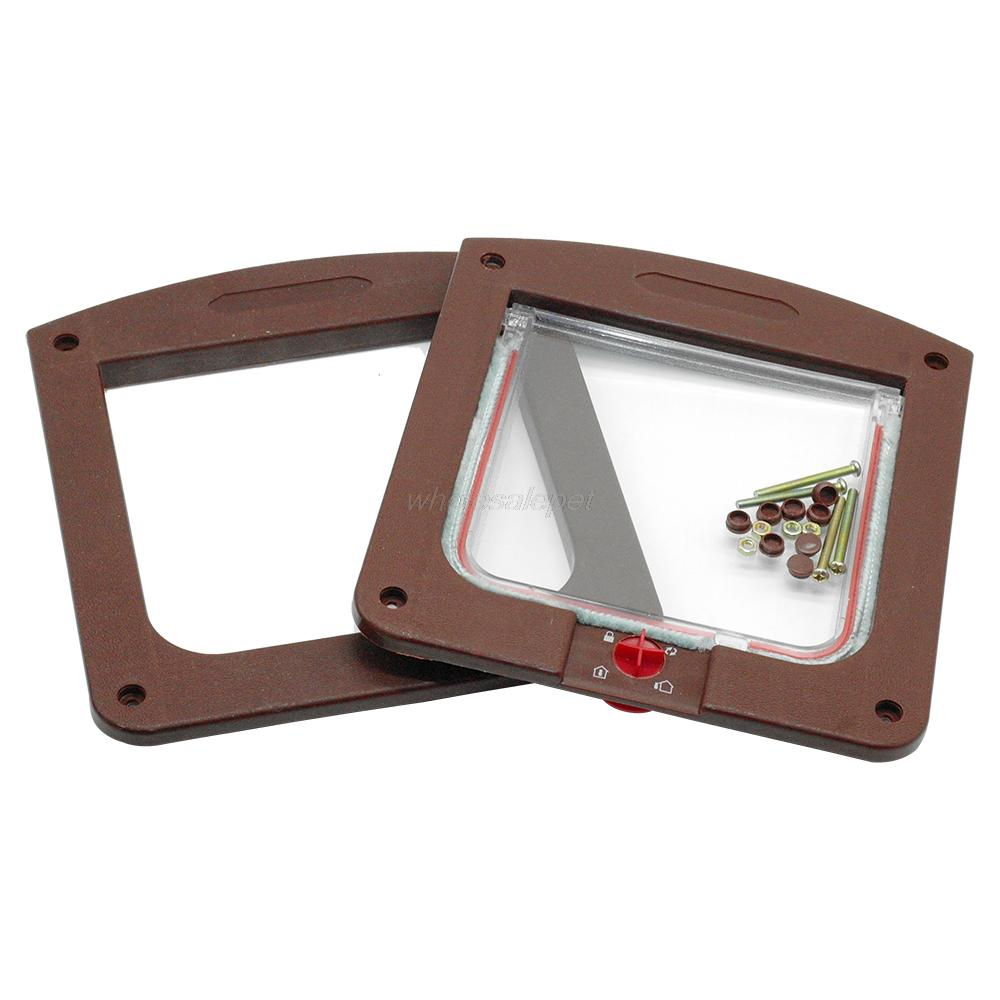 4 Way Safe Lockable Cat Dog Door Small Dog Kitten Lock Flap Pet Tunnel White Brown Plastic Animal Small Pet Cat Dog Gate -in Dog Doors u0026 R&s from Home ...  sc 1 st  AliExpress.com & 4 Way Safe Lockable Cat Dog Door Small Dog Kitten Lock Flap Pet ...