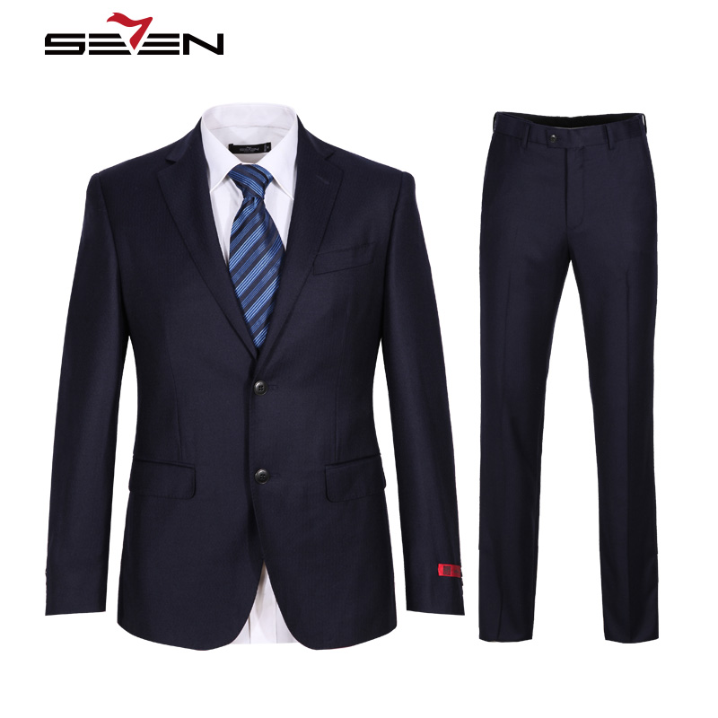 Seven7 Brand Wedding Suits For Men Groom Male Mens Royal Blue Suit Slim Fit Business Tuxedo