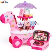 Musical light Cash register Simulation Carts Girl Mini Candy