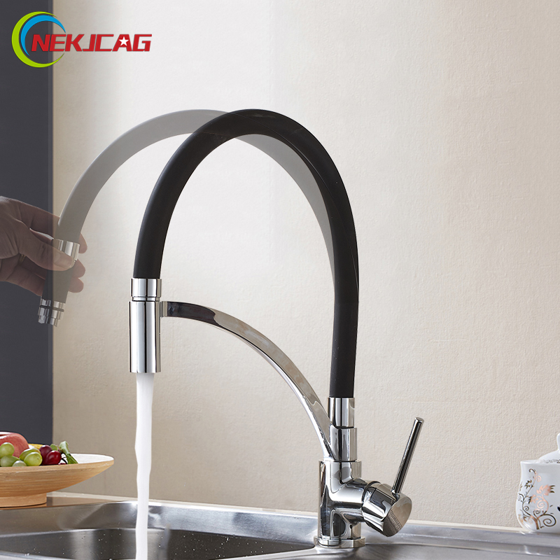Deck Mounted Kitchen taps Chrome Single Handle Kitchen Faucet Deck Mounted Cold Water Mixer Taps goose neck bathroom kitchen faucet 360 rotation single handle kitchen mixer taps with hot and cold water black deck mounted