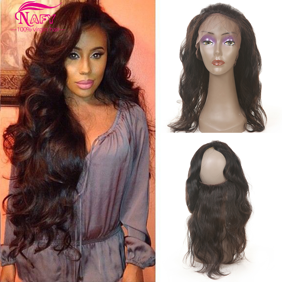 Brazilian Body Wave 360 Lace Frontal Band 8a Unprocessed