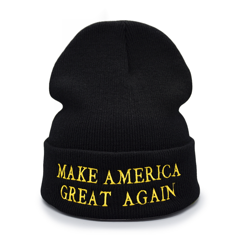 dc2c807e434 Men Women Winter Knitted Hat USA Make America Great Again Warm Beanies  Donald Trump GOP Republican Wool Beanie Hat Winter Cap-in Skullies   Beanies  from ...