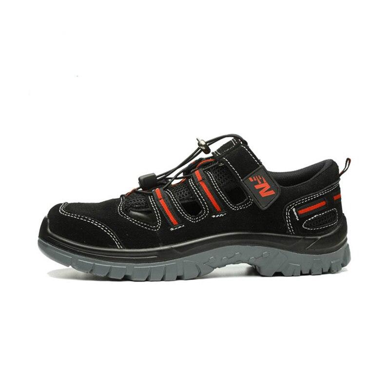 큰 사이즈 망 캐주얼 스틸 발가락 모자 작업 안전 여름 신발 부드러운 암소 가죽 샌들 펑크 증거 플랫폼 보안 부츠-에서작업 & 안전 부츠부터 신발 의  그룹 2