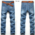 2016 Regular Fit Jeans Male Fashion Slim 100% High Quality Denim Blue Men's Jeans Size: 27-38 Free Shipping 01Y1202