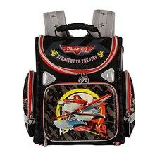 Kids Stachel School Backpack Orthopedic Spiderman Plane Racing Cars EVA Folded Children School Bags for Boys