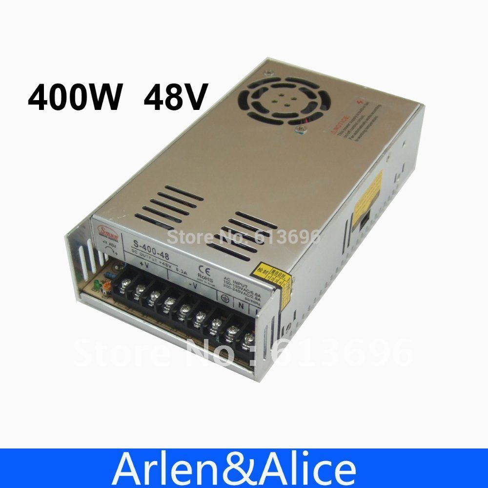 400W 48V 8.3A Single Output Switching power supply for LED Strip light AC to DC LED Driver dc power supply 36v 9 7a 350w led driver transformer 110v 240v ac to dc36v power adapter for strip lamp cnc cctv