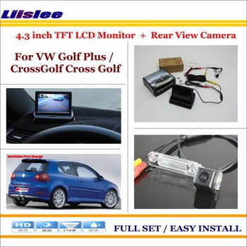"""For VW Volkswagen Golf Plus/CrossGolf Cross Golf Car Back Up Camera & 4.3"""" LCD Screen Monitor NTSC PAL 2 in 1Parking  System"""