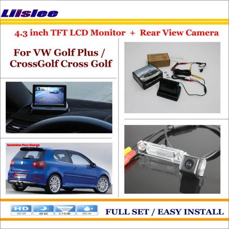 Liislee For VW Volkswagen Golf Plus / CrossGolf Cross Golf Car Parking Camera + 4.3 LCD Monitor NTSC PAL = 2 in 1 System