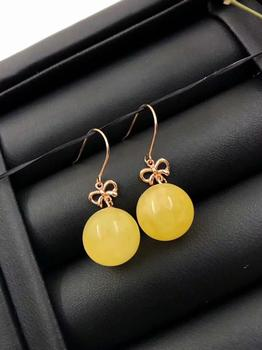 Earings Fashion Jewelry Lanzyo 18k amber Earrings Fashion Gift For Women Jewelry South Trendy New Wholesale e1010089mil