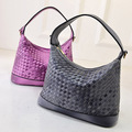 2016 New arrival lady handbag All-match colorful knitted bag women's handbag brief shoulder bag plaid bag