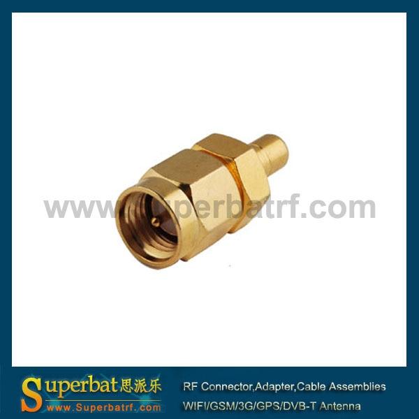 bilder für Superbat RF SMA-SMB-ADAPTER stecker-adapter RP-SMA (männlich pin) Stecker auf RP-SMB Jack (männlich pin) gerade gold plissiert