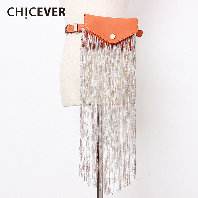 CHICEVER Korean Summer Chain Patchwork High Waist Belt Female Vintage Dresses Accessories Bag Belts For Women Fashion New Summer