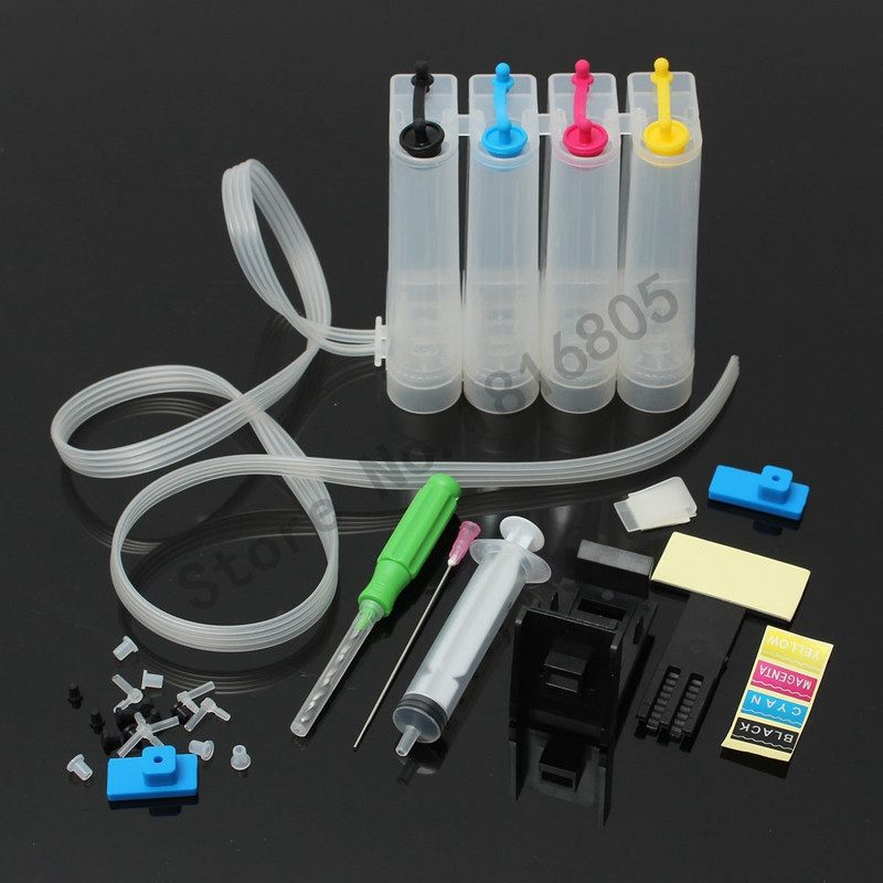 Universal DIY CISS kits 4colors CISS ink tank with full accessories for Canon Pixma IP2840 MX494 MG2440 MG2540 MG2940 Printer universal 6color continuous ink supply system ciss kit with full accessaries bulk ink tank for canon mg7770 printer ciss