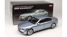Kyosho 1/18 Blue 7 Series 760 750 760Li Active Hybird (F04) 2012 Diecast Model Car Classic Toys Luxury Vehicle