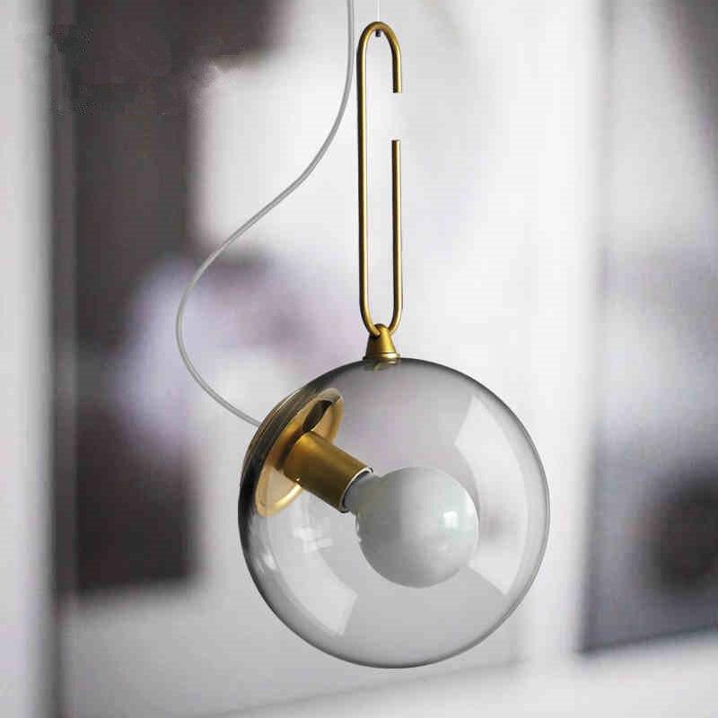 Abajur Luminaria nordique Simple bulle verre boule abat-jour lampe suspendue pour salon chambre lustre luminairesAbajur Luminaria nordique Simple bulle verre boule abat-jour lampe suspendue pour salon chambre lustre luminaires