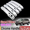 For Suzuki Grand Vitara 2006 2014 Chrome Handle Cover Trim Set Grand Nomade Escudo 2007 2009