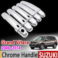 Pour Suzuki Grand Vitara 2006-2014 Chrome poignée couvercle garniture Set Grand Nomade Escudo 2007 2009 2010 2012 accessoires voiture style