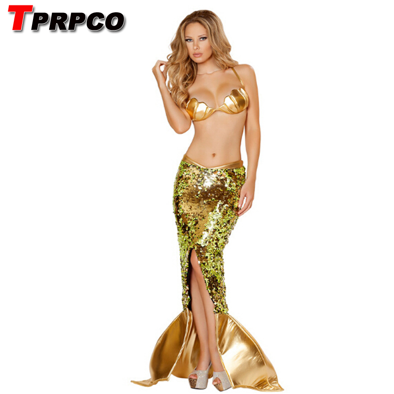 Sexy Mermaid tail Costume Adult Little Mermaid Tails Cosplay Squin Party For Girls Halloween Costumes for Women CO72227245