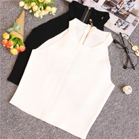 Summer Women Slim Knitting Halter Off-shoulder Tank Crop Tops Female Bodycon Knitted Camisole Sleeveless Short Tee shirts 612