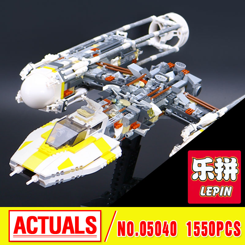 Lepin 05040 Star Series Wars Y Star wing Attack fighter Building Assembled Block Brick DIY Toy Compatible 10134 Educational Gift lepin 05040 star series wars y star wing attack fighter building assembled block brick diy toy compatible 10134 educational gif