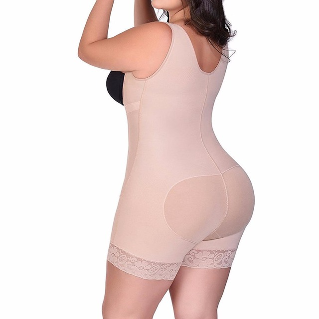 1737c2d8fd50f S-6XL Zip up Tummy Control Slimming bodysuit body shaper Waist trainer with butt  lifter butt enhancer for post partum women E116