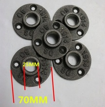5Pieces DN20-3/4Pipe Cast Iron Industrial Pipes Flange Base Water Pipe Support