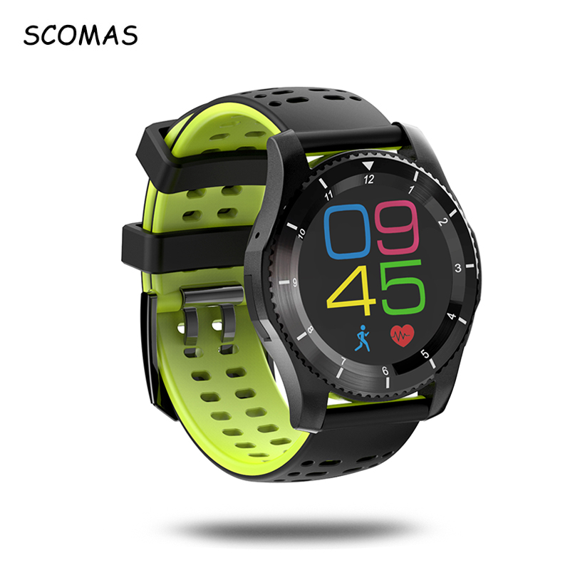 SCOMAS GS8 Waterproof GPS Smart Watch Blood Pressure Heart Rate Monitor Fitness Wristwatch with SIM Card for Android IOS Phone jaysdarel heart rate blood pressure monitor smart watch no 1 gs8 sim card sms call bluetooth smart wristwatch for android ios
