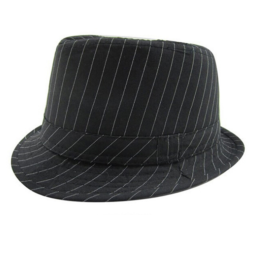 c22a26bc4c8 Baby Cap Kid Hat Mixing Style Jazz Cap Trilby Black Fine Stripes-in Hats    Caps from Mother   Kids on Aliexpress.com