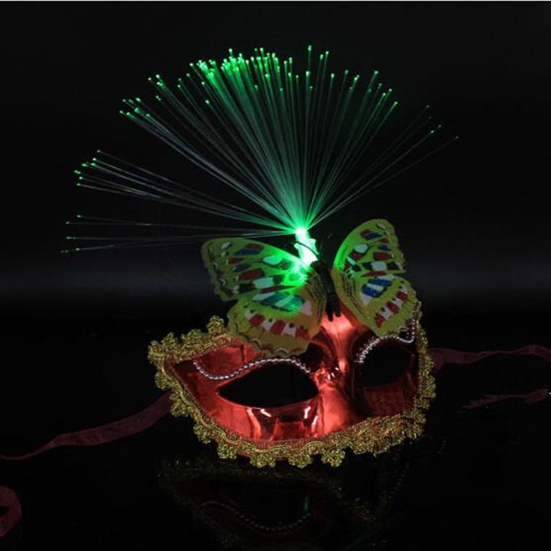 Kvinnor Flickor Sexig LED Blinkande Butterfly Mask Glödande Ljus - Semester och fester - Foto 3