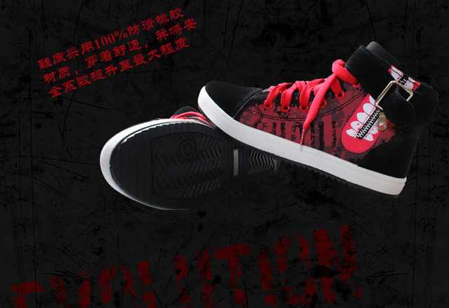 Anime de Tokio Ghoul Kaneki Ken Inspirado D0825 Sneaker Zapatos de Lona Negro Para Halloween Envío Libre