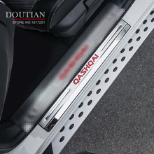 Stainless Steel External Door Sill Internal Scuff Plate Car Accessories For Nissan Qashqai J11 2014-2018 Car Styling